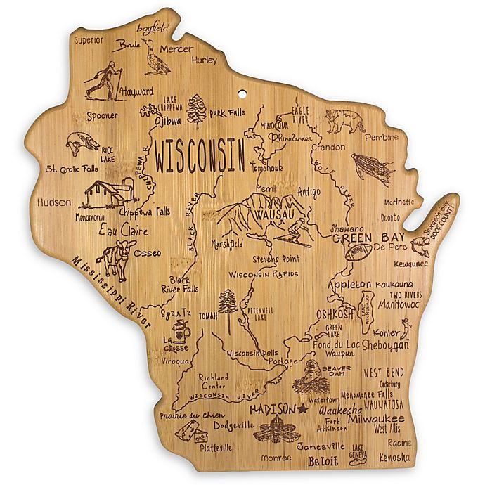 Alternate image 1 for Totally Bamboo® Wisconsin Destination Cutting/Serving Board