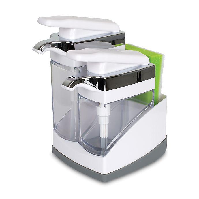 Alternate image 1 for Casabella® Sink Sider™ Duo Dispenser with Sponge