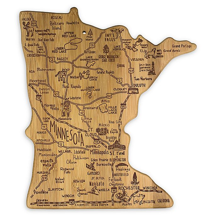 Alternate image 1 for Totally Bamboo® Minnesota Destination Cutting/Serving Board