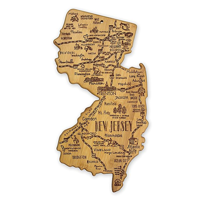 Alternate image 1 for Totally Bamboo® New Jersey Destination Cutting/Serving Board