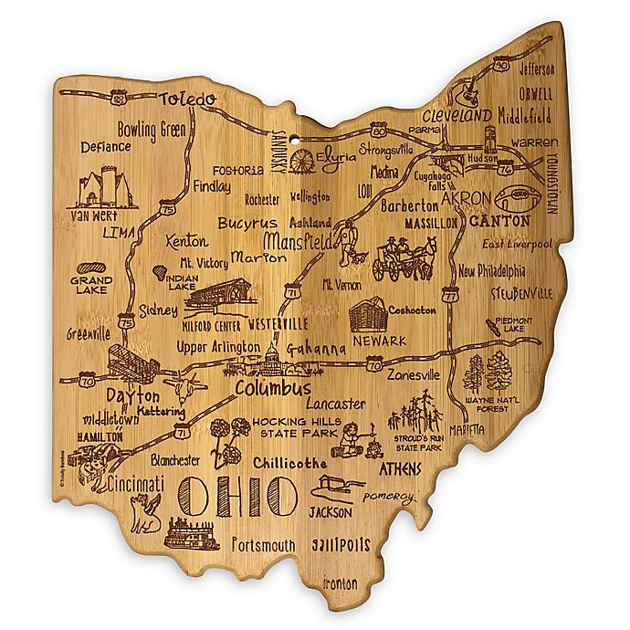 Alternate image 1 for Totally Bamboo® Ohio Destination Cutting/Serving Board