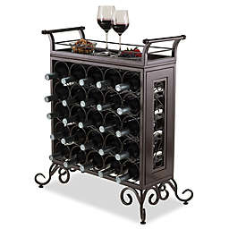 Winsome Trading Silvano 25-Bottle Wine Rack in Bronze