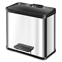 Hailo Trento 5-Gallon Recycling Bin in Silver/Black