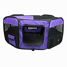 Portable Pet Soft Play Pen in Purple