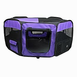 Portable Pet Soft Play Pen in Purple