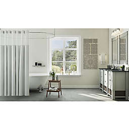 Dove Grey Contemporary Bathroom