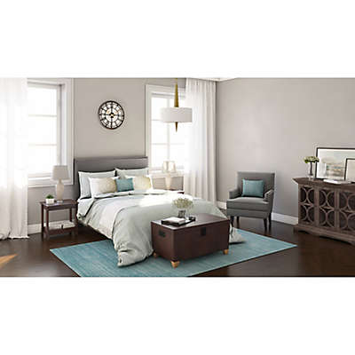 Accented Linen Contemporary Bedroom