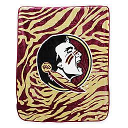 Florida State University Soft Raschel Throw Blanket