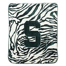 Michigan State University Soft Raschel Throw Blanket