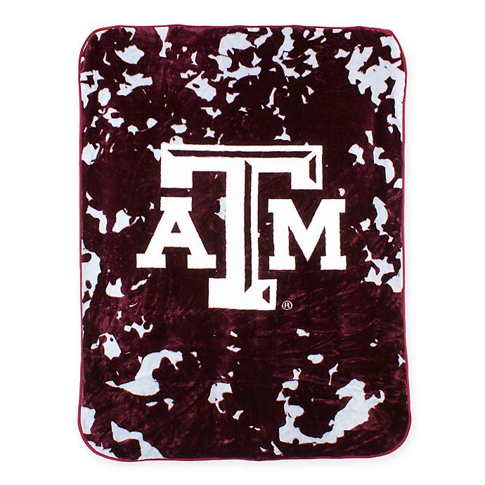 Alternate image 1 for Texas A&M University Oversized Soft Raschel Throw Blanket
