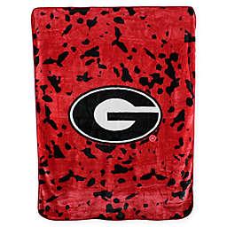 University of Georgia Oversized Soft Raschel Throw Blanket
