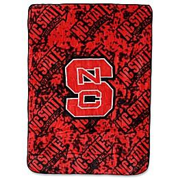 North Carolina State University Oversized Soft Raschel Throw Blanket