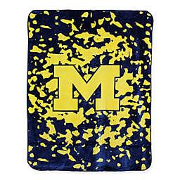 University of Michigan Oversized Soft Raschel Throw Blanket