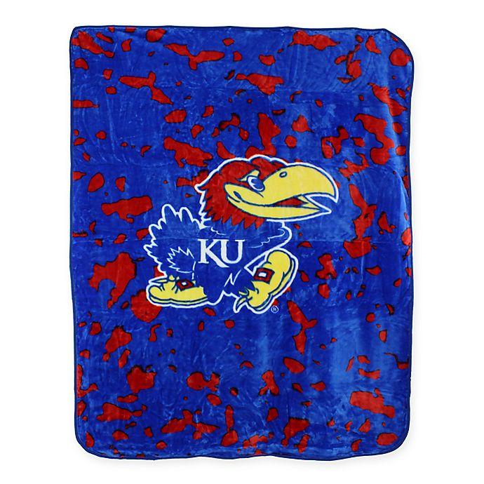 Alternate image 1 for University of Kansas Oversized Soft Raschel Throw Blanket