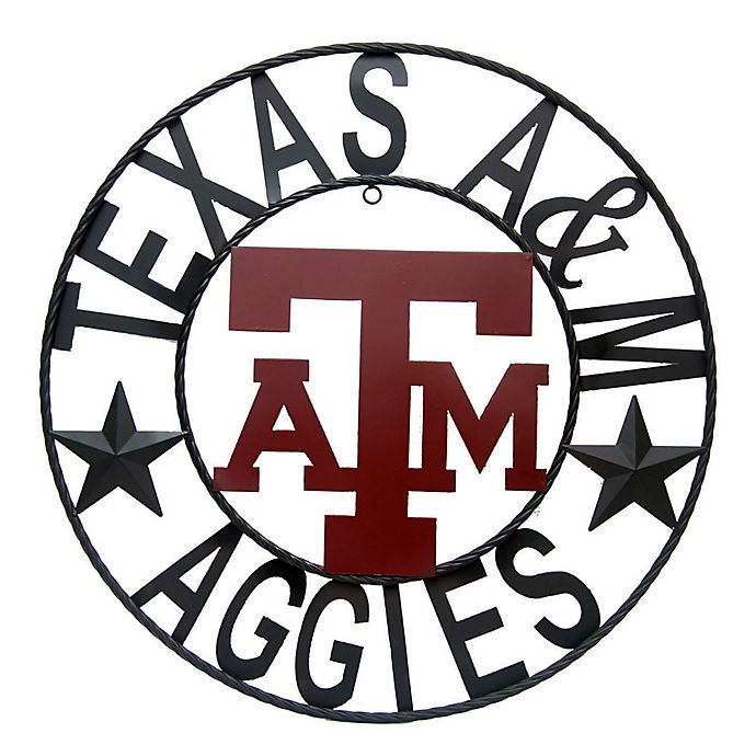 Alternate image 1 for Texas A&M University 18-Inch Wrought Iron Wall Décor