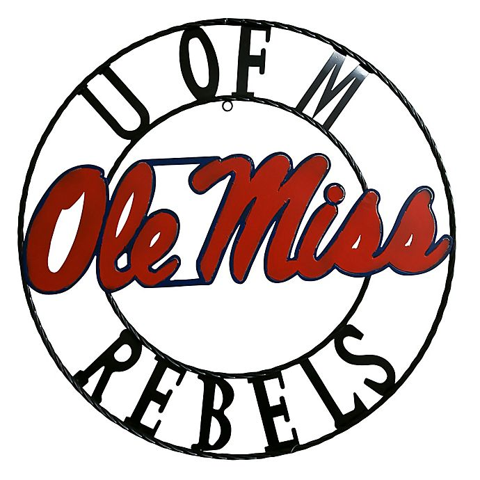 Alternate image 1 for University Of Mississippi 24-Inch Wrought Iron Wall Décor