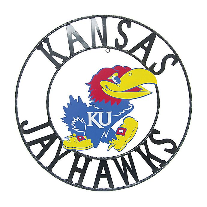 Alternate image 1 for University of Kansas 24-Inch Wrought Iron Wall Décor