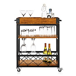 iNSPIRE Q® Seymour Kitchen Rolling Serving Cart