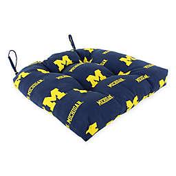 University of Michigan Wolverines Collegiate Indoor/Outdoor D Chair Cushion