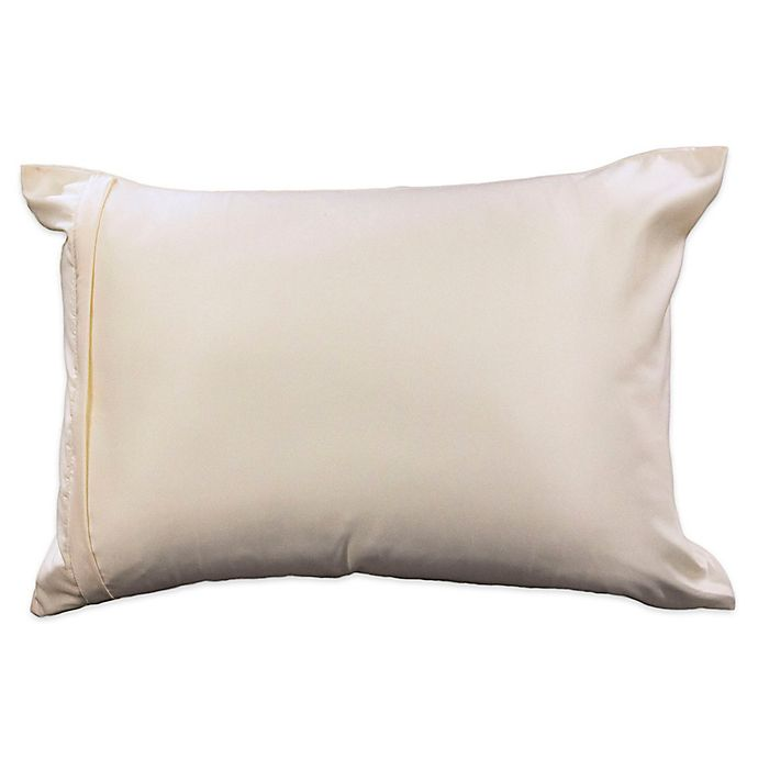 Alternate image 1 for Healthy Nights™ Satin with Aloe Pillow Protector
