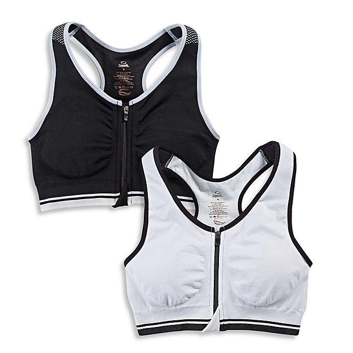 21006e511d47c Copper Fit® Zip-Front Seamless Sports Bra