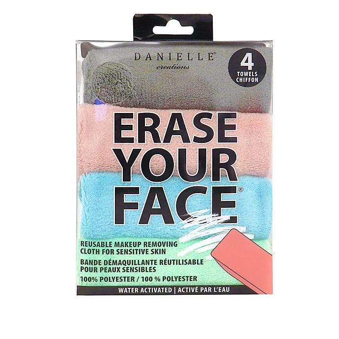 Alternate image 1 for Erase Your Face 4-Pack Reusable Makeup Removing Cloth for Sensitive Skin