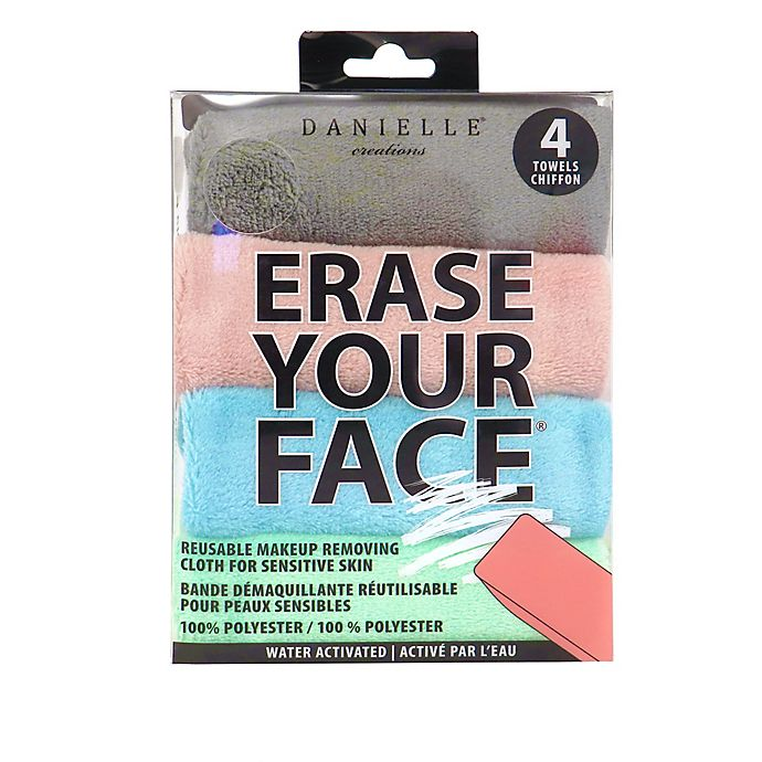 Alternate image 1 for Erase Your Face 4-Pack Reusable Makeup Removing Cloth for Sensitive Skin