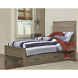 Hillsdale Kids and Teens Highlands Twin Alex Bed with Storage in Driftwood