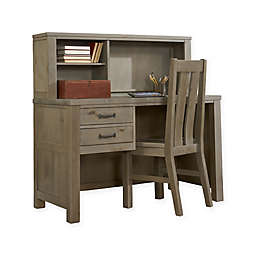 Hillsdale Highlands Desk with Hutch in Driftwood