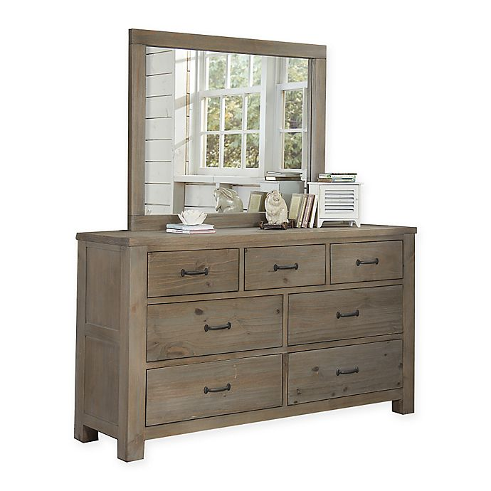 Alternate image 1 for Hillsdale Highlands 7-Drawer Dresser with Mirror in Driftwood