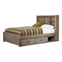 Hillsdale Kids and Teens Highlands Harper Twin Bookcase Bed with Storage in Driftwood