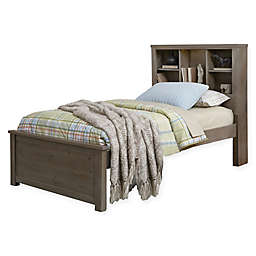 Hillsdale Highlands Twin Bookcase Bed in Driftwood