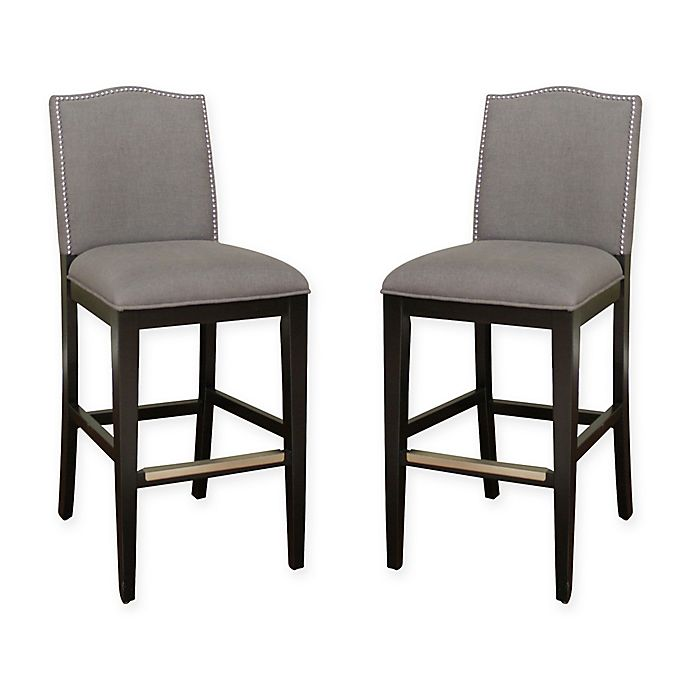 American Heritage Chase Bar Stool In Coastal Grey Set Of