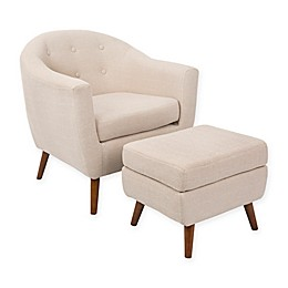 LumiSource Rockwell Chair with Ottoman
