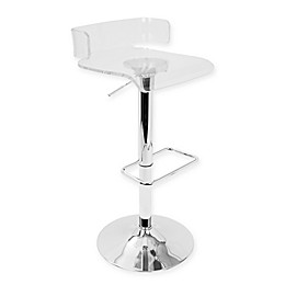 LumiSource Pride Bar Stool in Clear