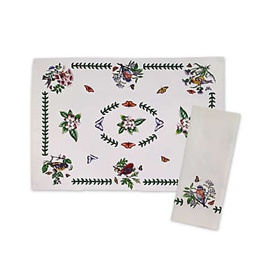 Botanical Birds Placemat and Napkins Collection in Ivory (Set of 4)