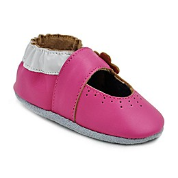 Momo Baby Marigold Leather Soft Sole Shoes in Pink