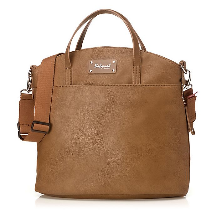 Alternate image 1 for Babymel™ Grace Diaper Bag in Tan