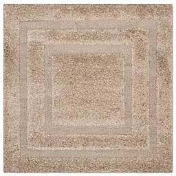 Safavieh Shadow Box 6-Foot 5-Inch Square Area Rug in Beige