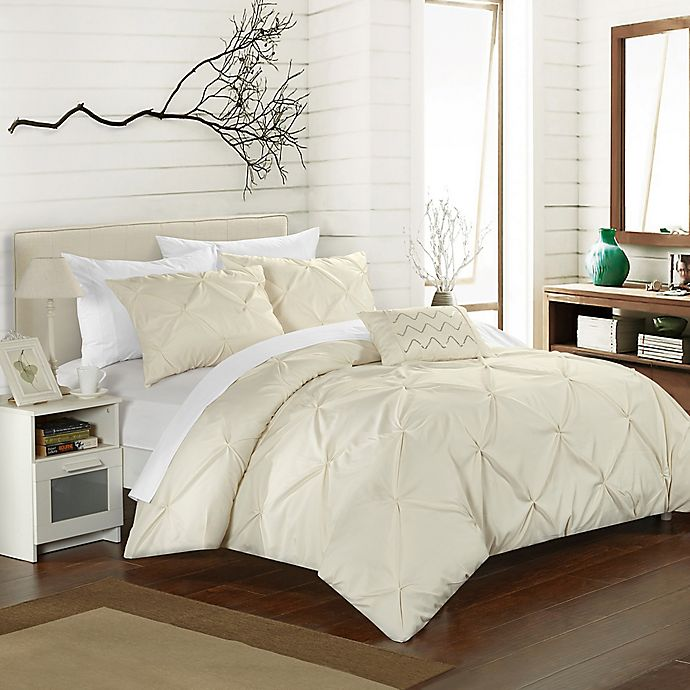 Alternate image 1 for Chic Home Salvatore King Duvet Cover Set in Beige