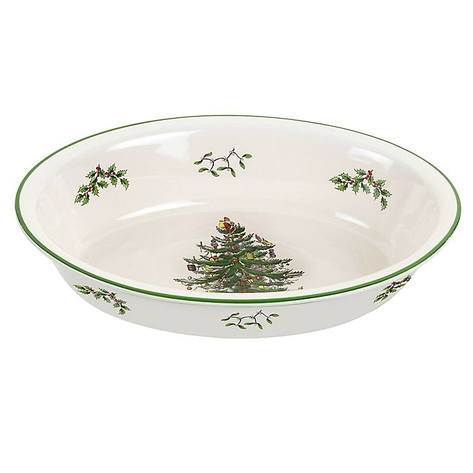 Alternate image 1 for Spode® Christmas Tree Oval Deep Baker