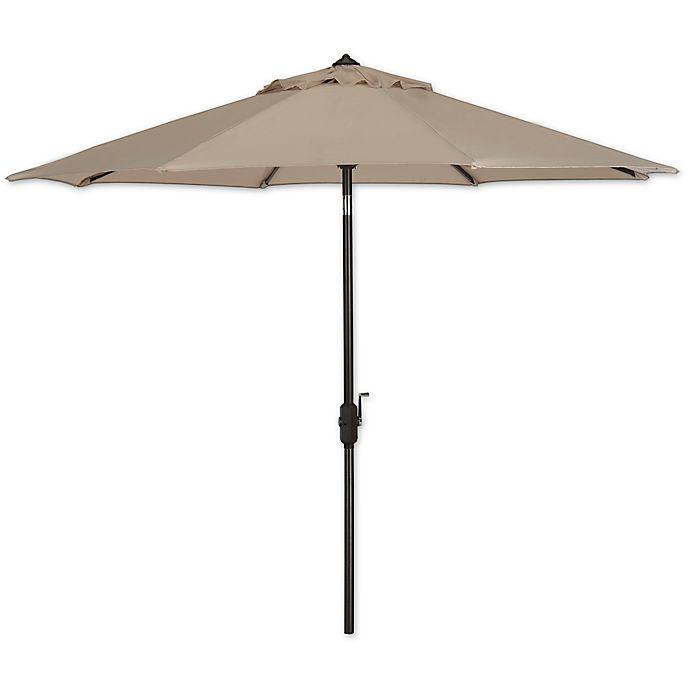 Alternate image 1 for Safavieh UV Resistant Ortega 9-Foot Auto Tilt Crank Umbrella
