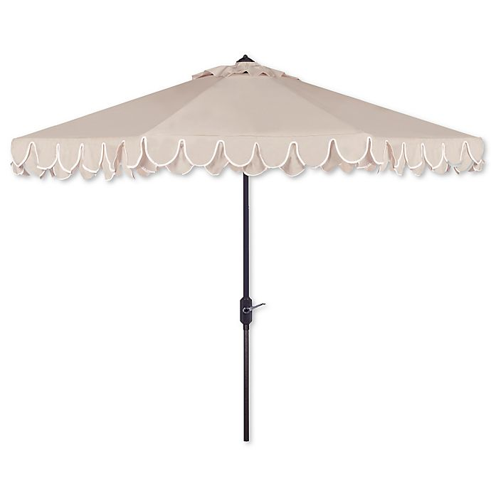 Alternate image 1 for Safavieh UV Resistant Elegant 9-Foot Valance Umbrella
