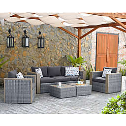 Atlantic Cebu 5-Piece Outdoor Conversation Set in Grey