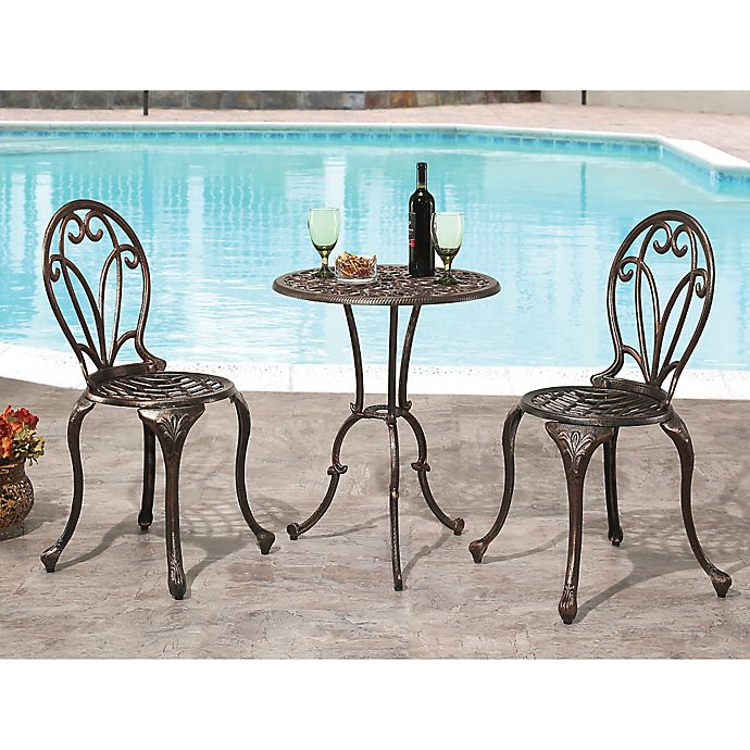 Alternate image 1 for Abbyson Living® Nicola 3-Piece Bistro Set in Copper