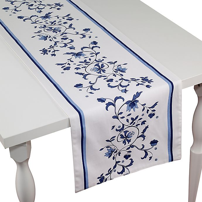 Alternate image 1 for Spode Blue Portofino 90-Inch Table Runner