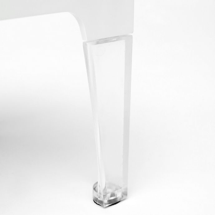 Alternate image 1 for Sterling Risers® 4-Inch Modern Legs in Clear (Set of 4)