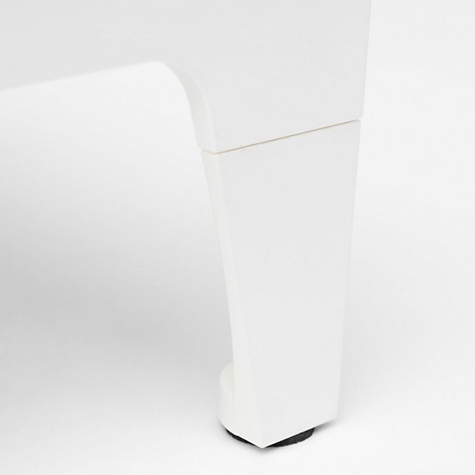 Alternate image 1 for Sterling Risers® 4-Inch Modern Legs in White (Set of 4)