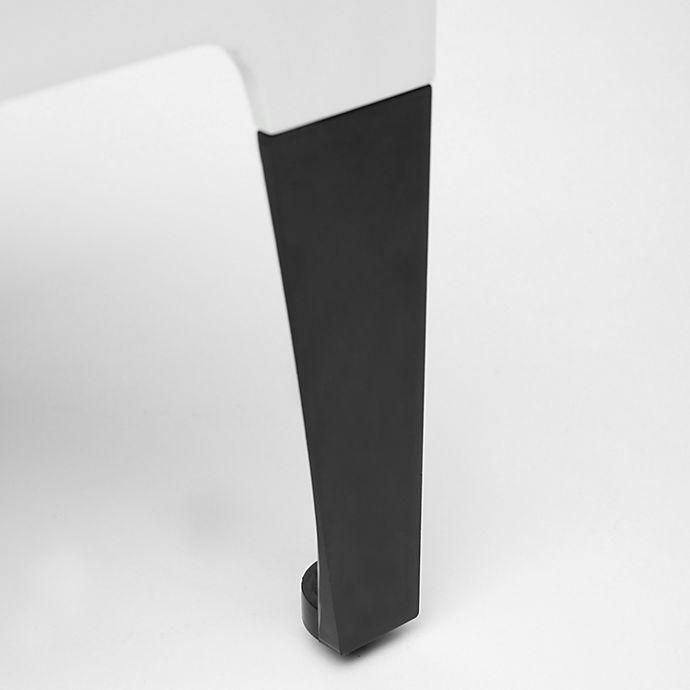 Alternate image 1 for Sterling Risers® 6-Inch Modern Legs in Black (Set of 4)