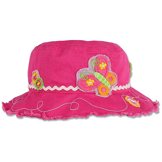 Alternate image 1 for Stephen Joseph® Butterfly Bucket Hat in Pink
